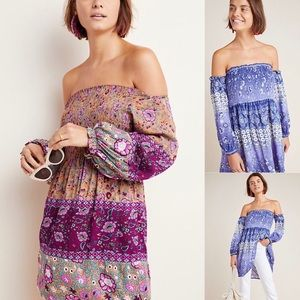 NWT $98 Anthropologie Off The Shoulder Dress XS